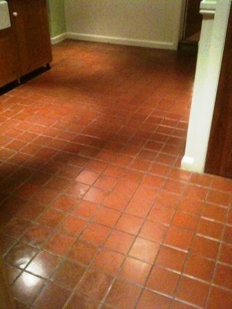 Quarry Tiled Floor After Restoration