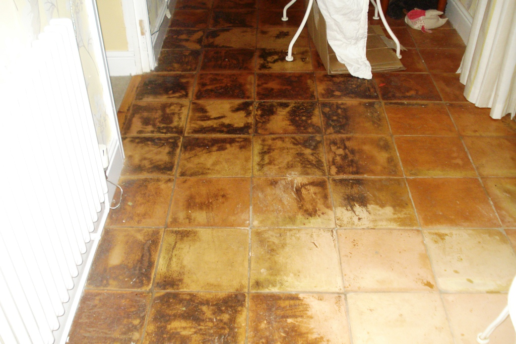 Terracotta Tile Cleaning before