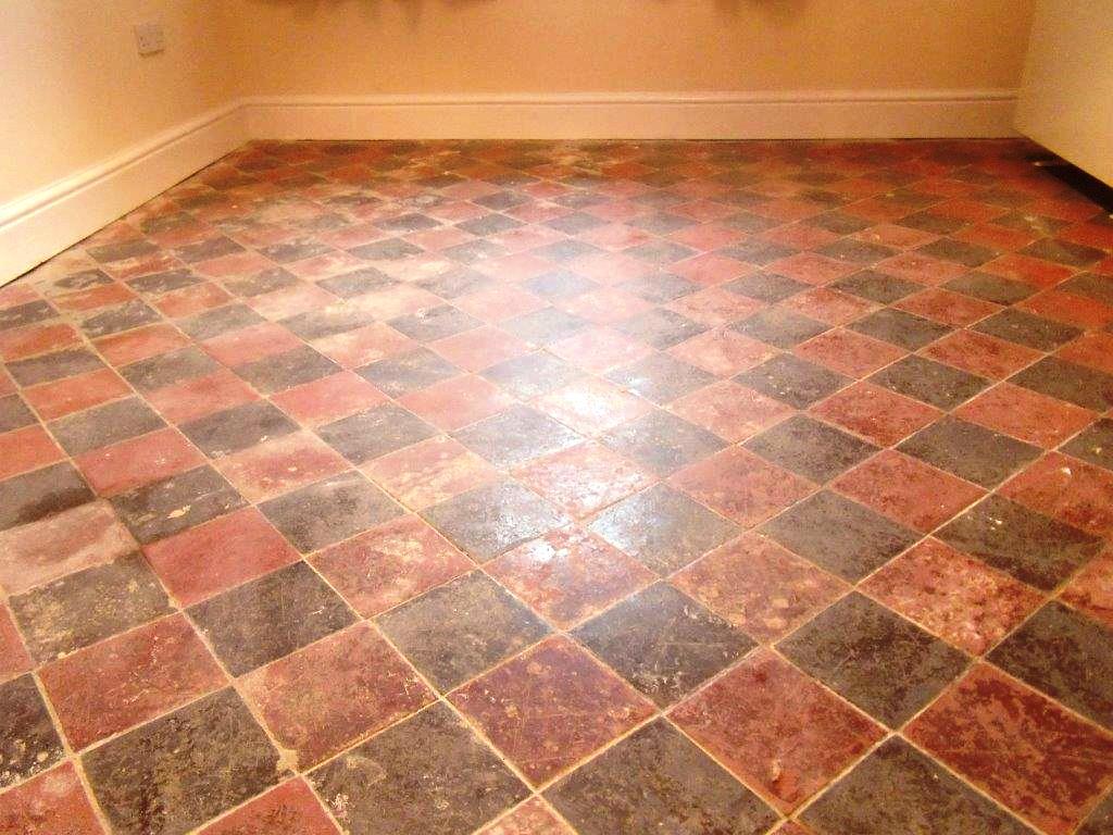 Victorian Tiled Floor Before