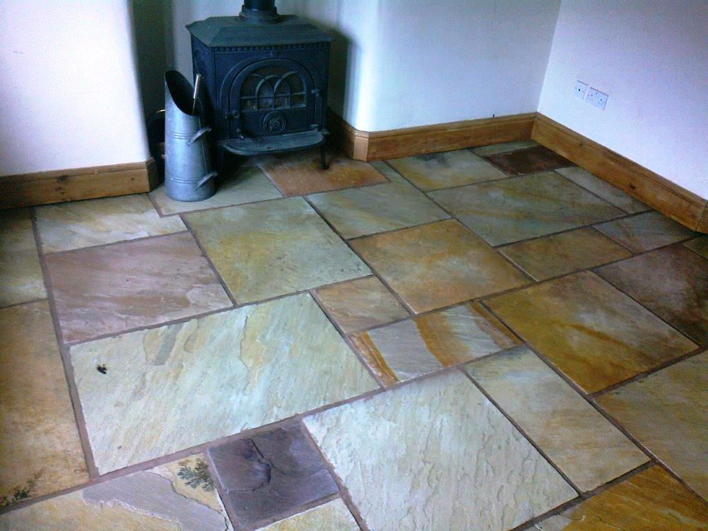 Sandstone Floor Bramhall After Cleaning