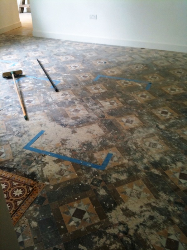 Victorian Floor Before Restoration