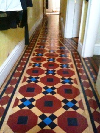 Victorian Tiled Hall After Restoration