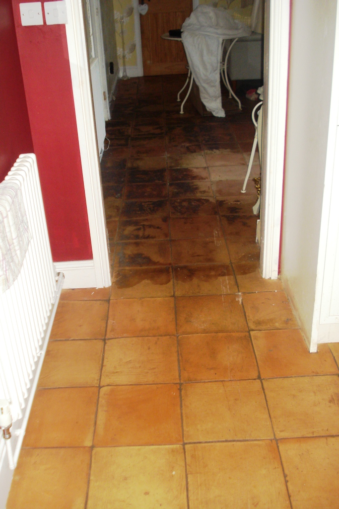 Restoring Terracotta Tiles In Wilmslow Cheshire Tile Doctor
