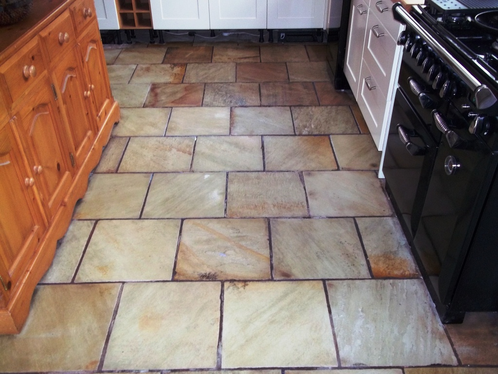 Kitchen Stone Floor Sandstone Tile Cleaning Information