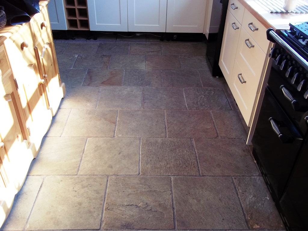 Indian Sandstone Flagstones Restored In Cheshire Stone