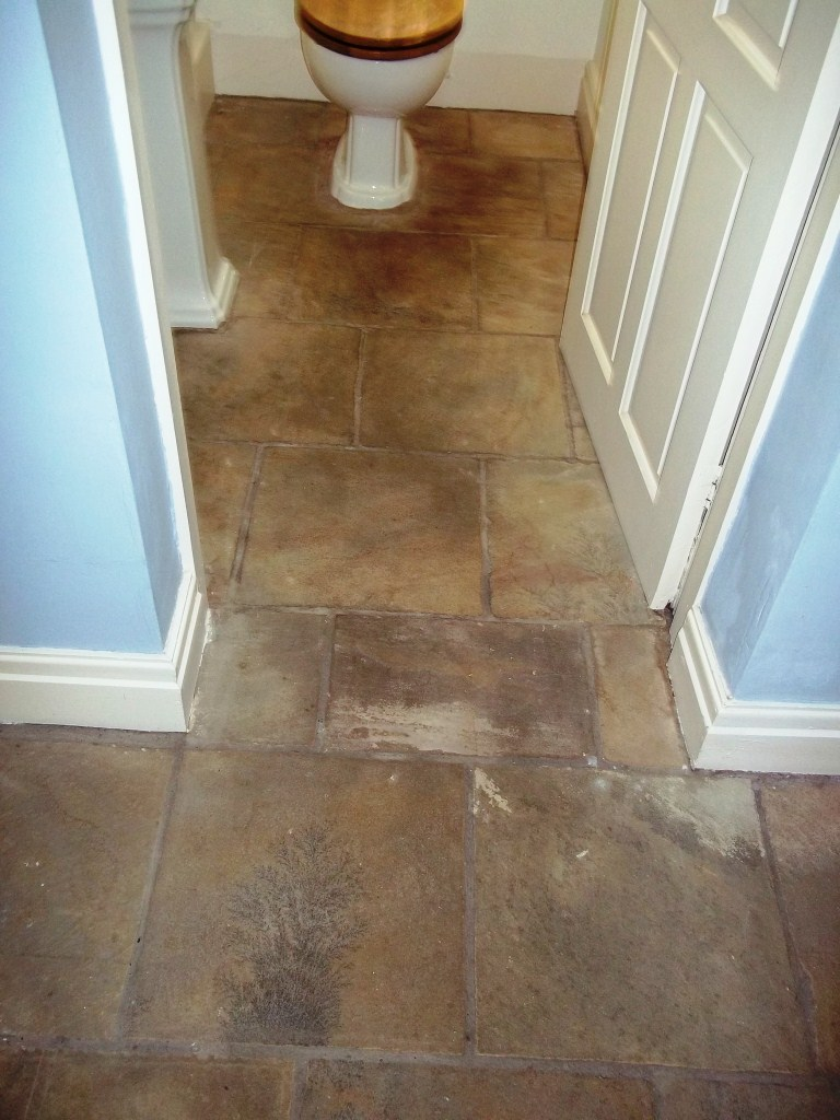 Indian Sandstone WC Before