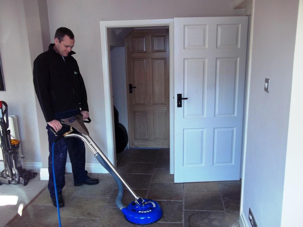 TileDoctor Kevin Ward Cleaning Sandstone