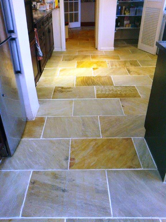 Indian Sandstone Floor Macclesfield After Cleaining