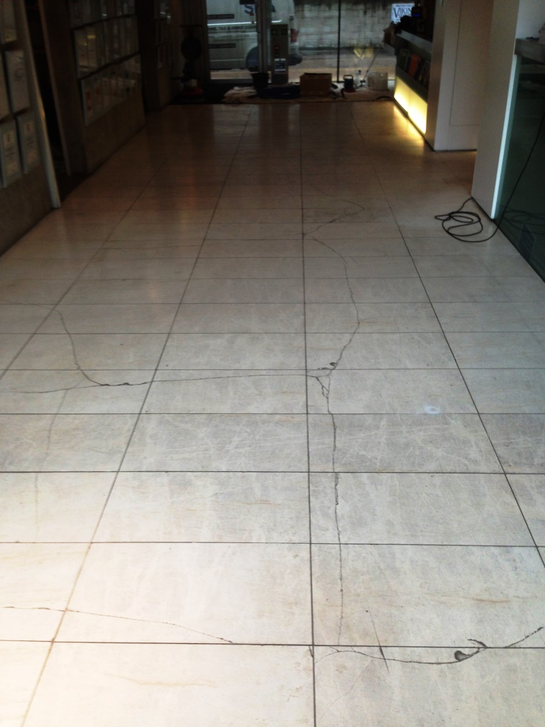 Repairing Cracked Limestone Floor Tiles – Stone Cleaning and