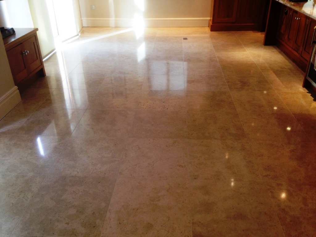 Travertine Tiled Floor After Refurbish Wilslow