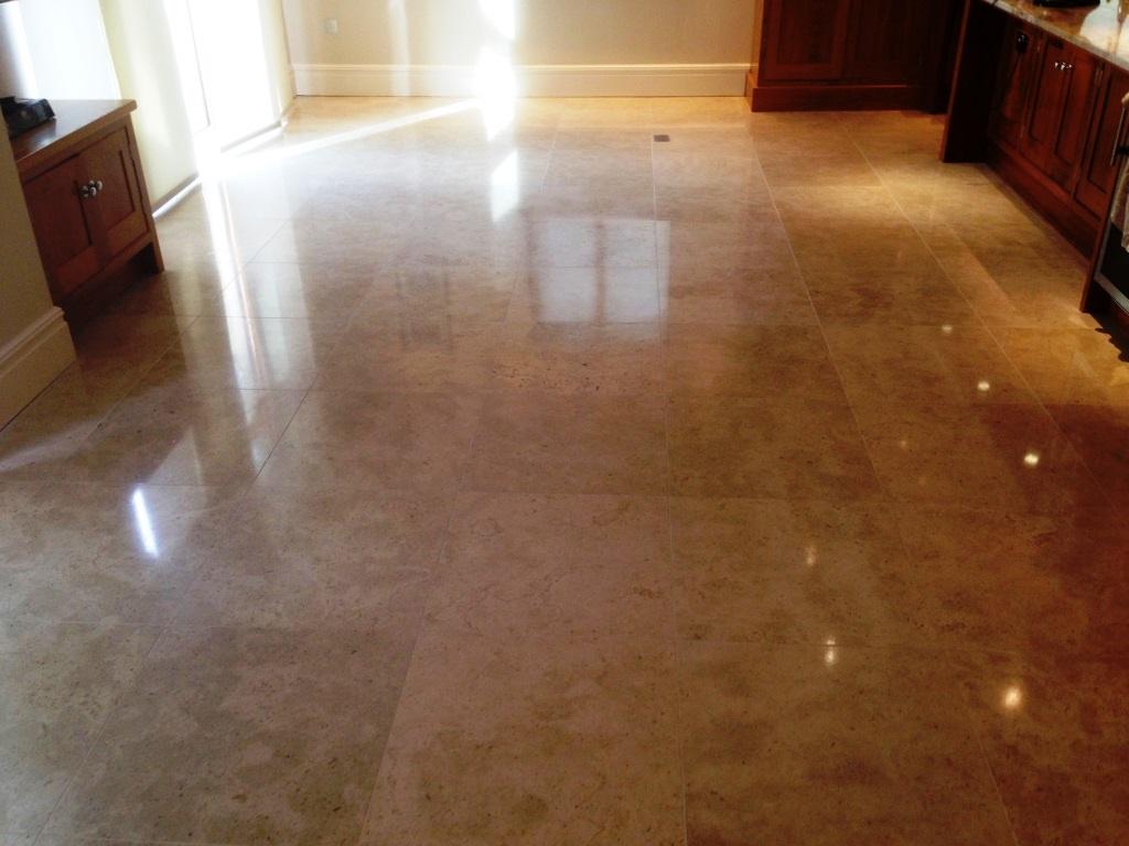 Travertine Tiled Floor After Refurbish Wilslow